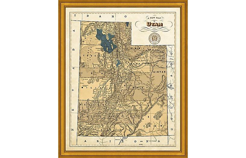 1887 Map of Utah
