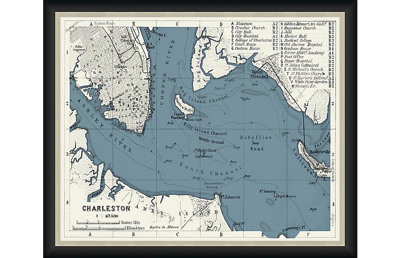 1909 Map of Charleston