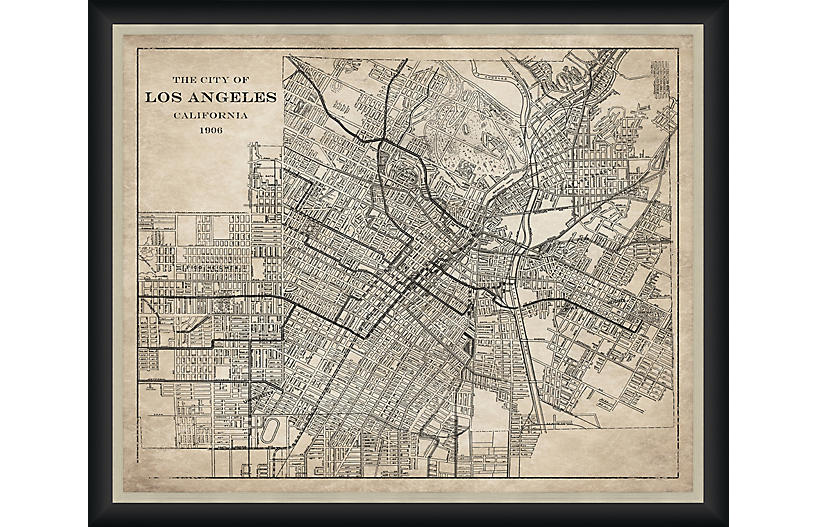 1906 Map of Los Angeles