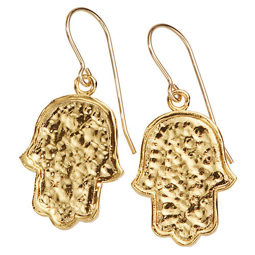 22-Kt Mini Hamsa Earrings