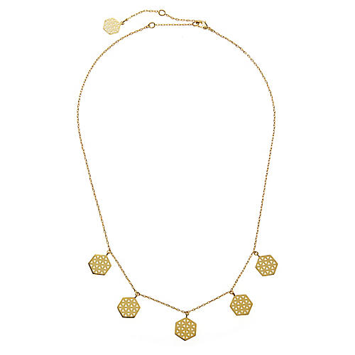 22-Kt Multi Flower of Life Necklace