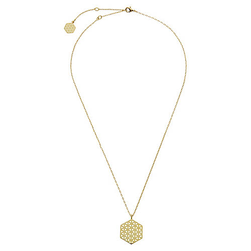 22-Kt Large Flower of Life Necklace
