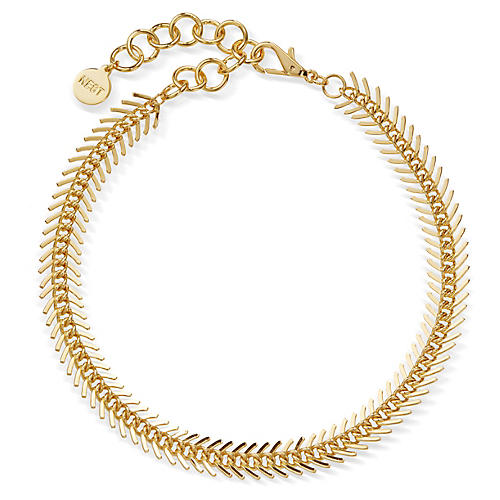22-Kt Chain Collar Necklace