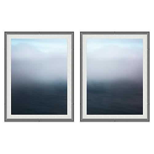 Alex Hoerner, Big Sur Seascape Acrylic Diptych