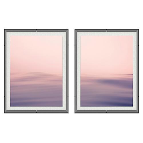 Alex Hoerner, Seascape I Acrylic Diptych
