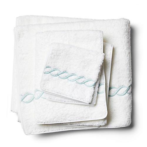 3-Pc Classic Chain Towel Set, Opal