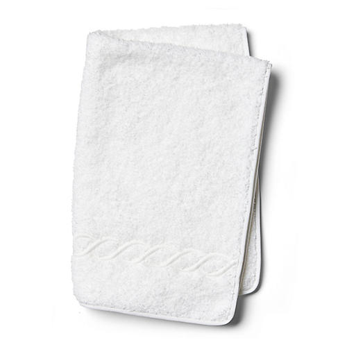 Classic Chain Guest Towel, White