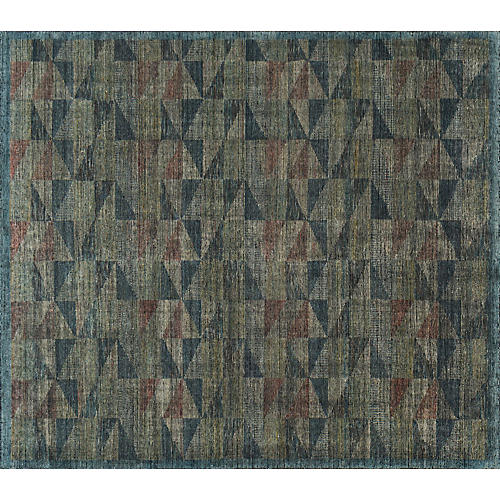 Aurora Hand-Knotted Rug, Blue