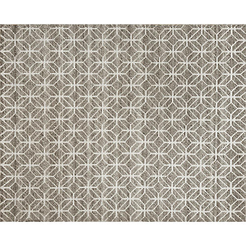 Janina Hand-Knotted Rug, Stone