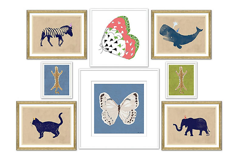 8-Pc Animal Gallery Wall