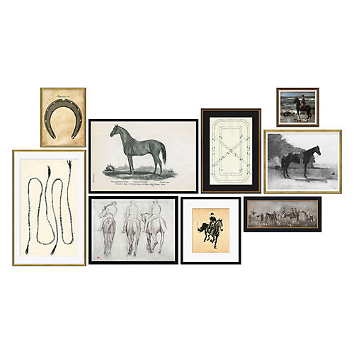 9-Pc Equestrian Gallery Wall