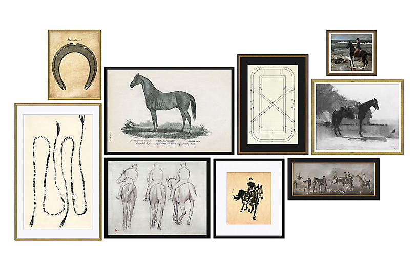 S/9, Equestrian Gallery Wall