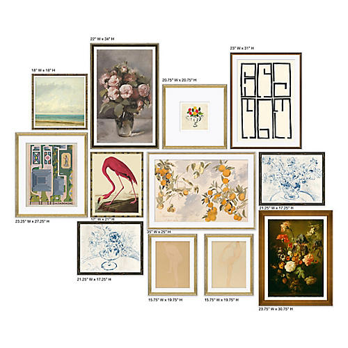 12-Pc Traditional Gallery Wall