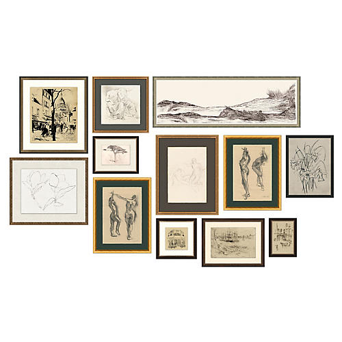 12-Pc Drawings Gallery Wall