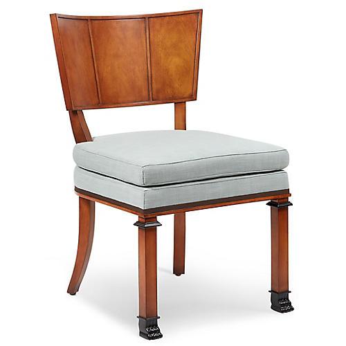 Freya Chair, Blue Linen