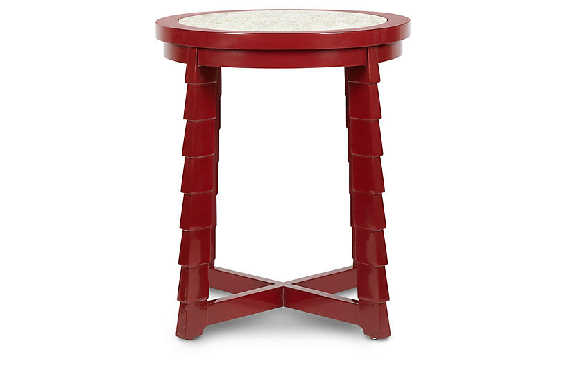 Mateo Side Table, Red