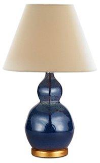 Samuels Table Lamp Set Navy Blue