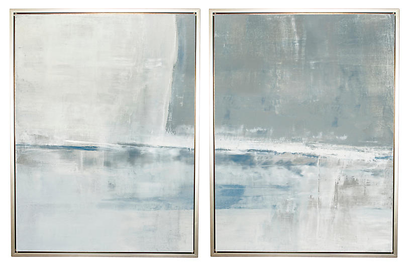 Carol Benson-Cobb, Shallow in Gray Diptych