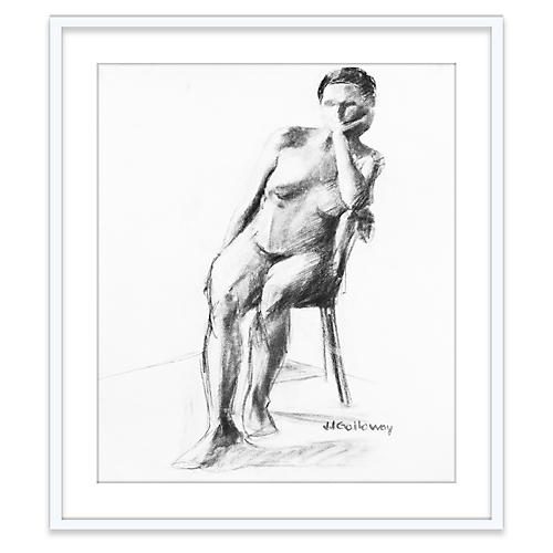 JJ Galloway, Sitting Nude