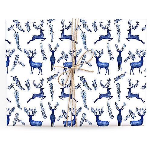S/3 Enchanted Reindeer Gift Wrap