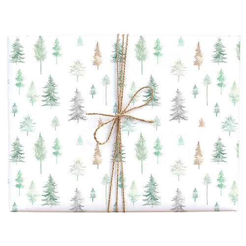 S/3 Peaceful Forest Gift Wrap