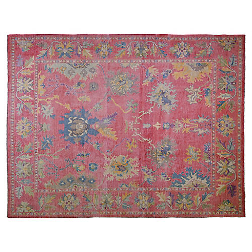 """10'1""""x13'4"""" Adana Hand-Knotted Rug, Red/Blue"""