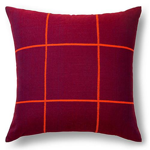 Argo 20x20 Pillow, Maroon