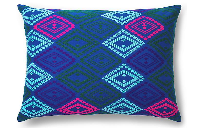 Zinar 20x26 Pillow, Cobalt