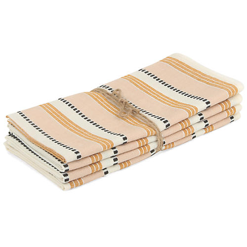 S/4 Amalfi Goldenrod Napkins, Yellow