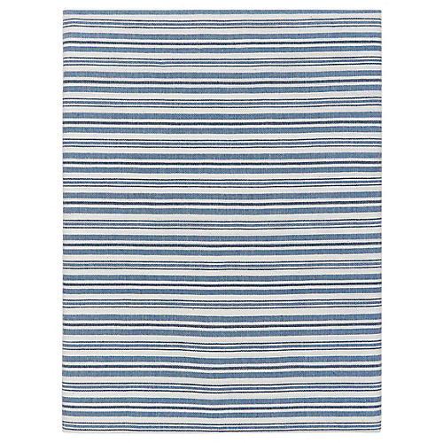 Linen Chambray Runner, Blue