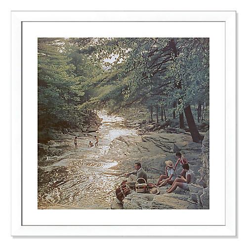 Slim Aarons, Campbell Falls Picnic