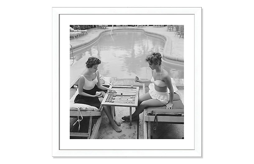 Slim Aarons, Backgammon by the Pool
