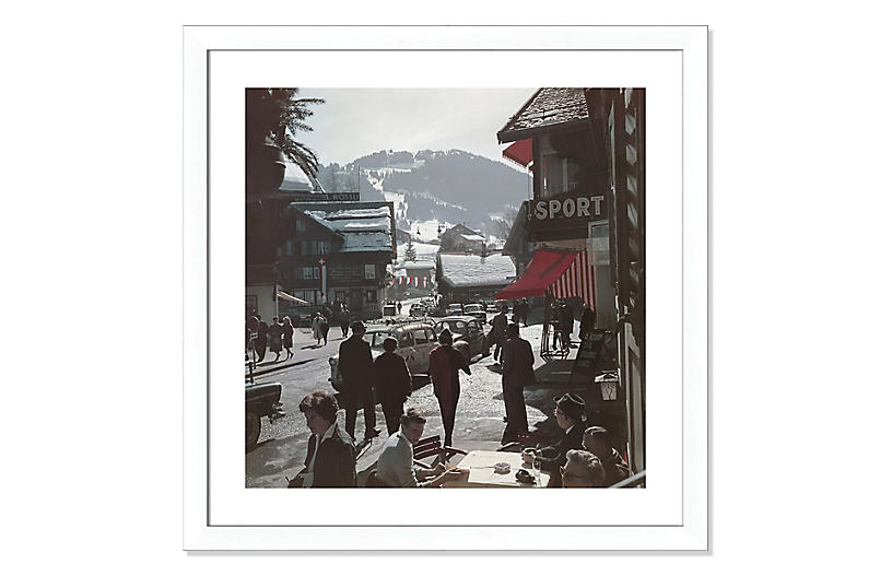 Slim Aarons, Gstaad Town Centre