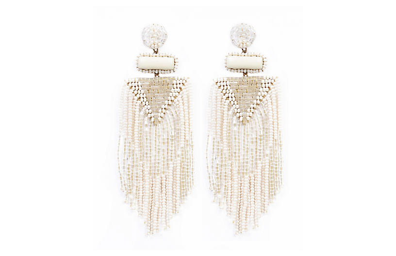 Deepa by Deepa Gurnani Jody Earrings, Ivory