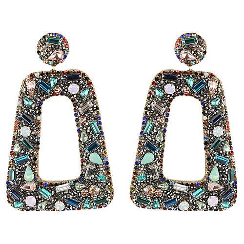 Gabbie Earrings, Blue/Multi