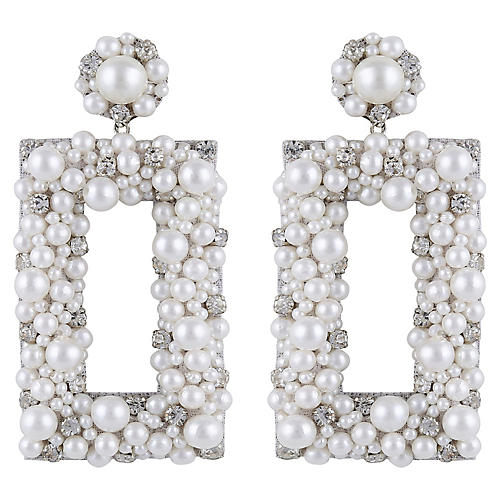 Deepa by Deepa Gurnani Sophia Earrings, Ivory