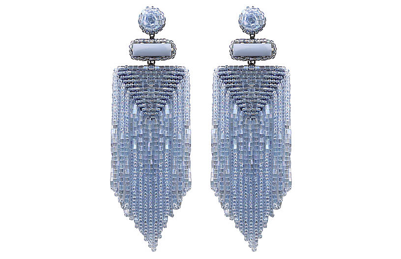 Deepa by Deepa Gurnani Jody Earrings, Powder Blue