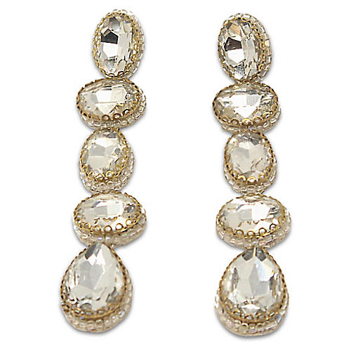 Deepa by Deepa Gurnani Tyra Earrings, Silver