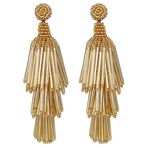 Deepa by Deepa Gurnani Rain Earrings, Gold