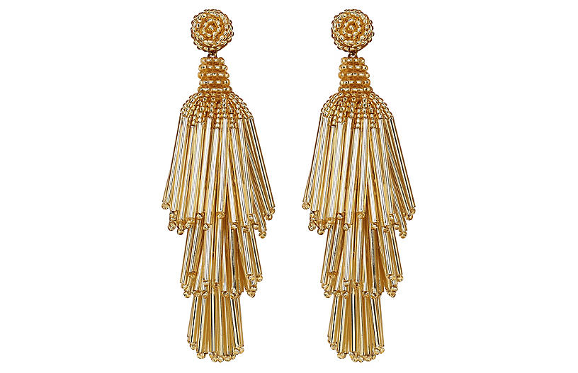 Deepa by Deepa Gurnani Rain Earrings, Gold