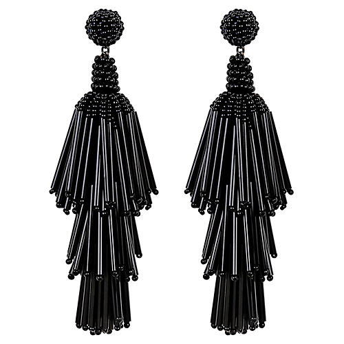 Deepa by Deepa Gurnani Rain Earrings, Black