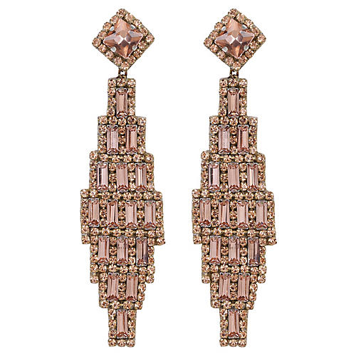 Deepa by Deepa Gurnani Milana Earrings, Rose Gold