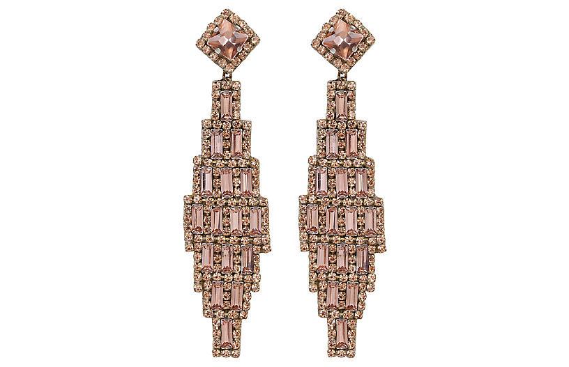 Deepa by Deepa Gurnani Milana Earrings, Rose Gold