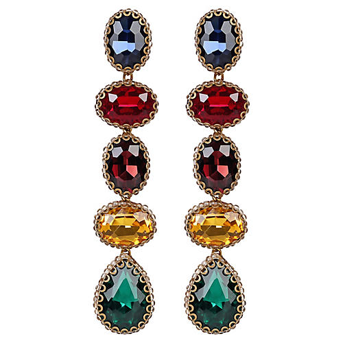 Deepa by Deepa Gurnani Tyra Earrings, Gold/Multi