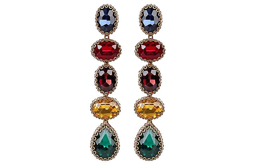 Deepa by Deepa Gurnani Tyra Earrings, Gold/Multi