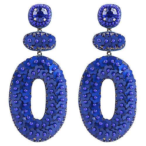 Deepa by Deepa Gurnani Britt Earrings, Cobalt Blue
