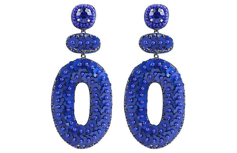 Deepa by Deepa Gurnani Britt Earrings, Cobalt Blue