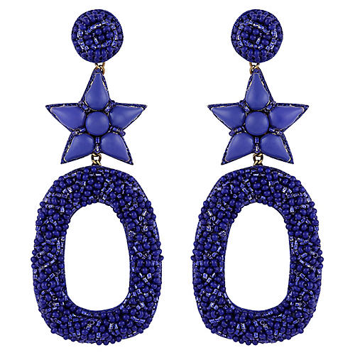 Deepa by Deepa Gurnani Dasia Earrings, Cobalt Blue