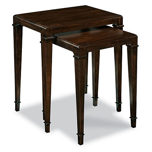S/2 Colmar Nesting Tables, Ebonized Mahogany