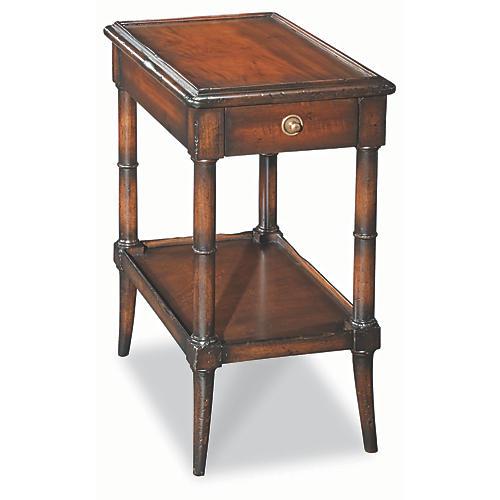 Somme Side Table, Burl Oak